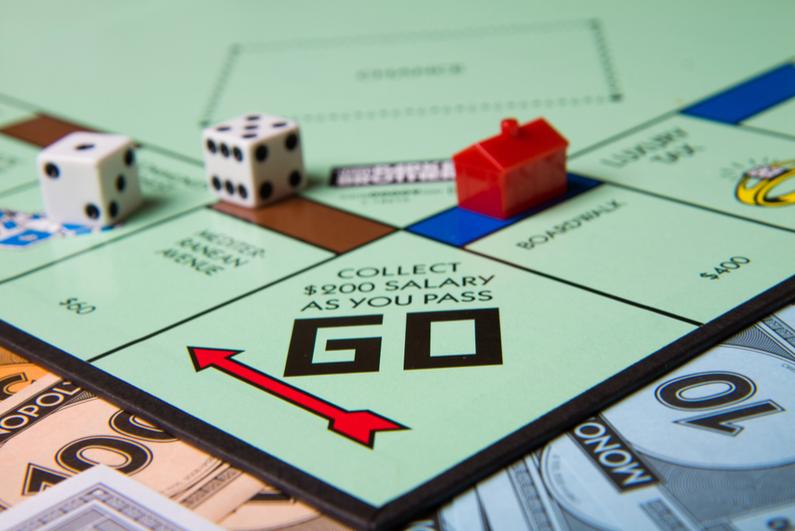 Corner of Monopoly board