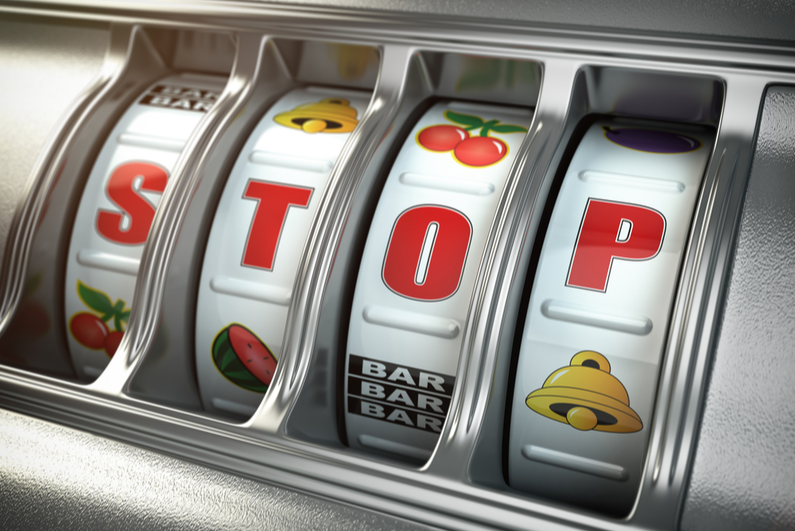 STOP on slot machine