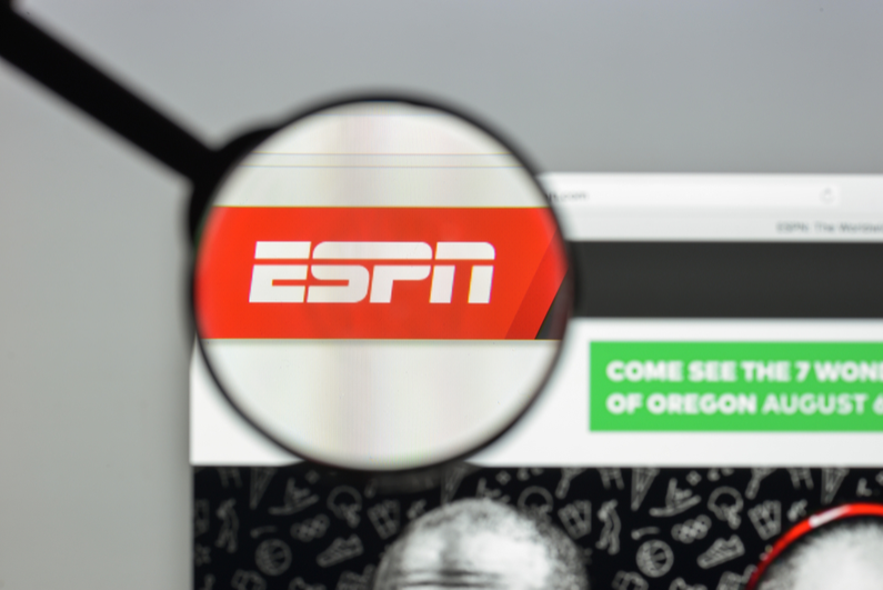Logo of sports TV network ESPN