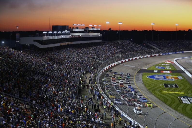 View of a NASCAR race at Richmond, Virginia