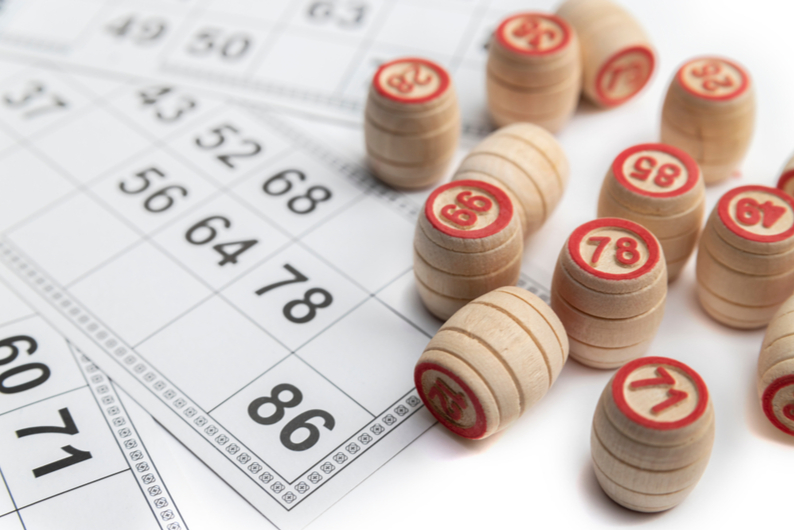 Bingo cards and markers