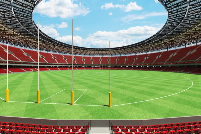 3D rendering of Aussie football field