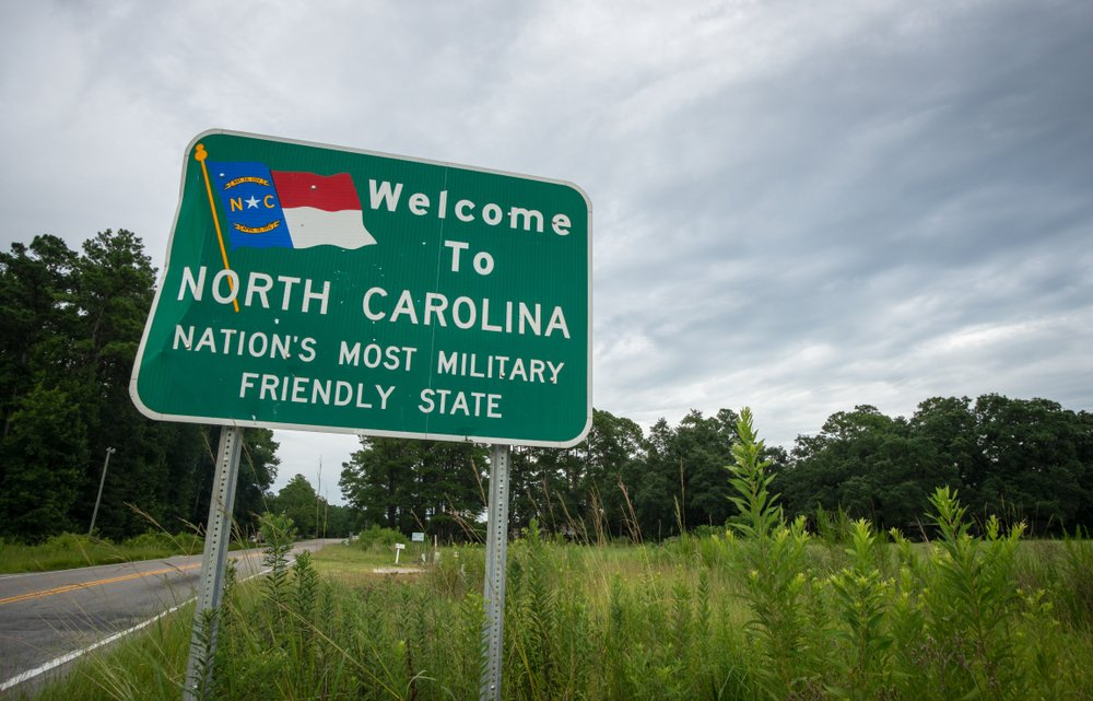 north carolina welcome sign