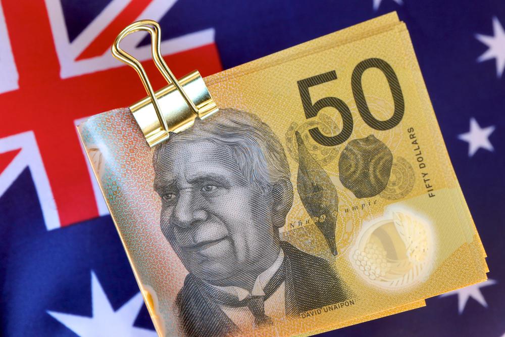 flag-of-australia-and-australian-50-dollar-notes