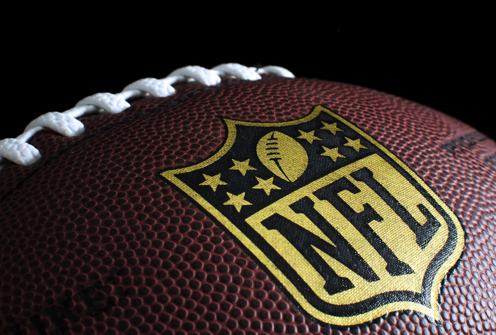 football with NFL logo