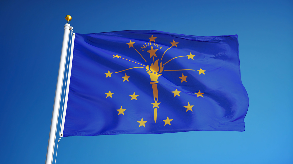 flag of state of indiana