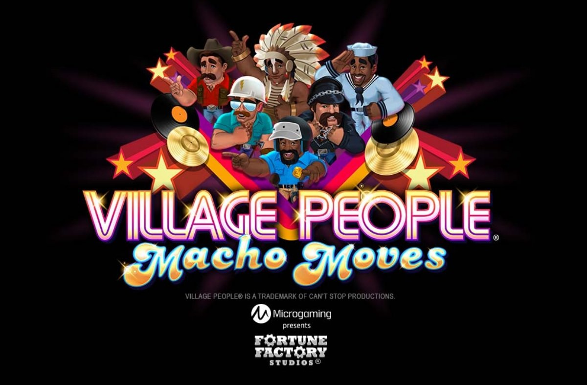 village people macho moves slot image
