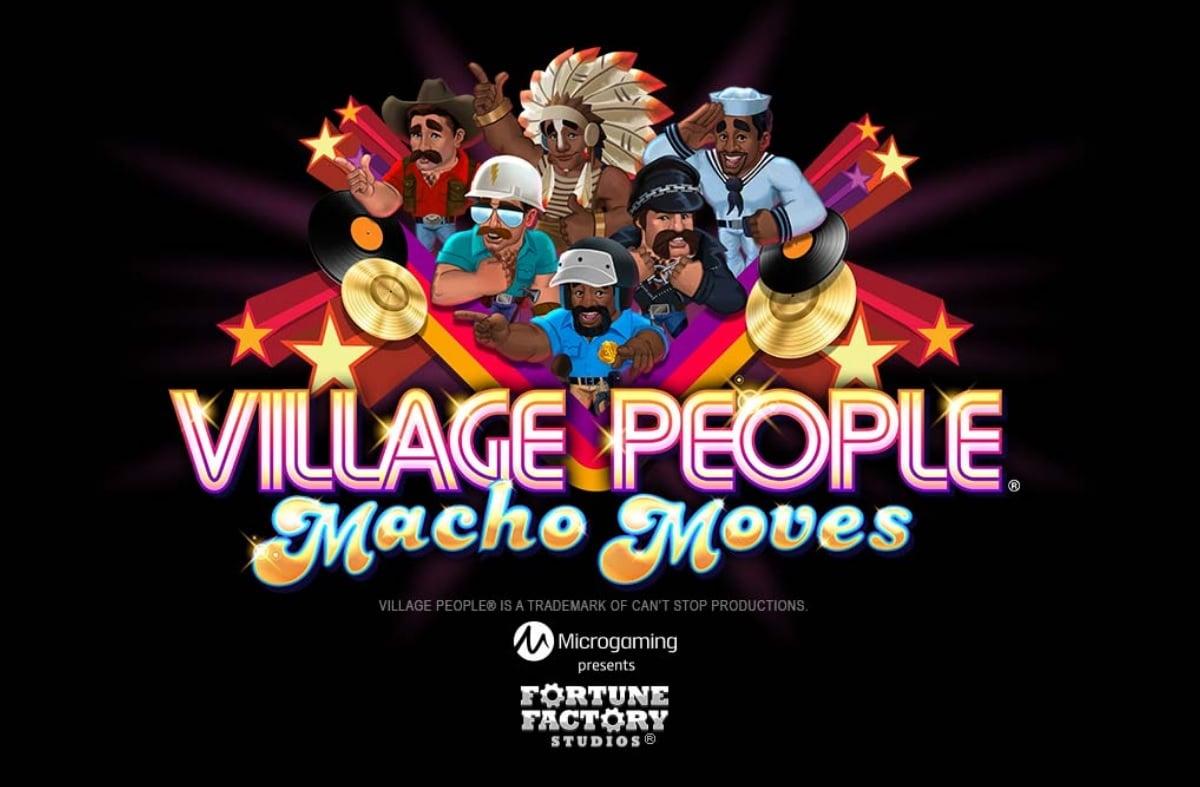 village people macho moves slot image