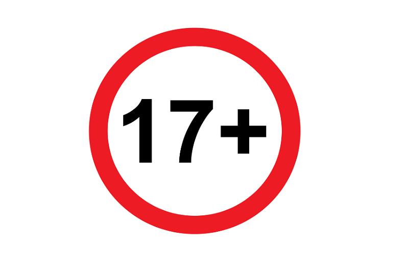 17+ age rating logo