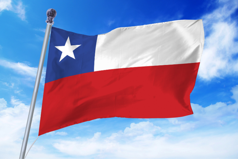 chile-flag-against-clear-blue-sky