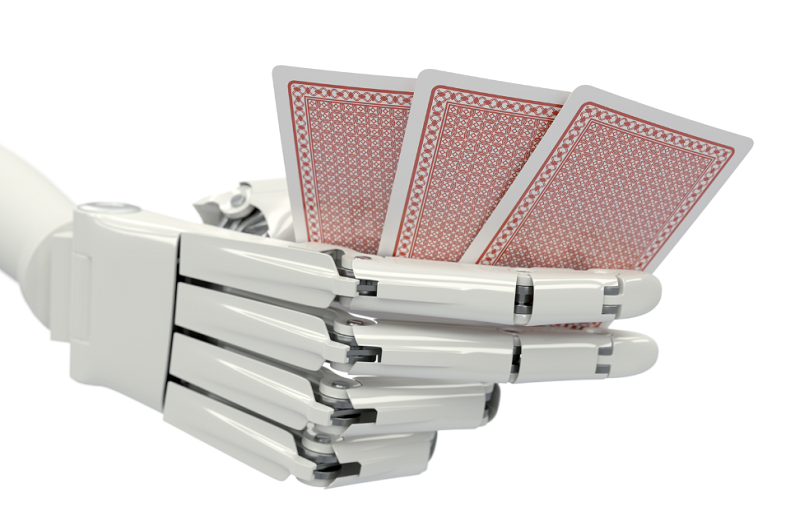 robot-hand-holding-playing-cards