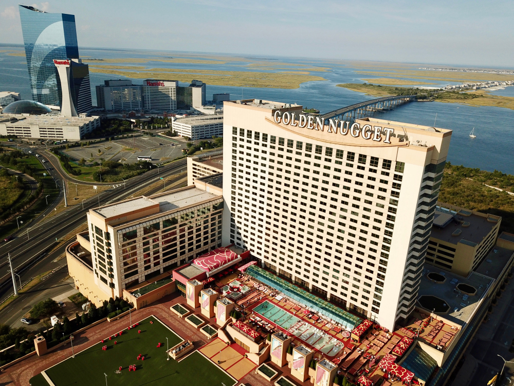 aerial view of Golden Nugget Casino and Atlantic City