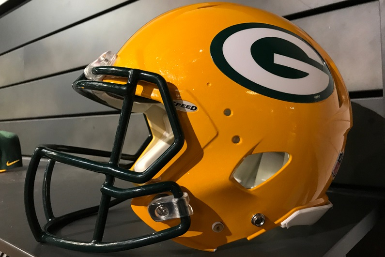 Green Bay Packers helmet.
