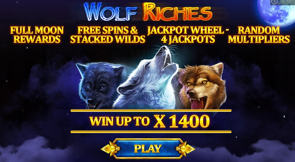 Wolf Riches slot reels