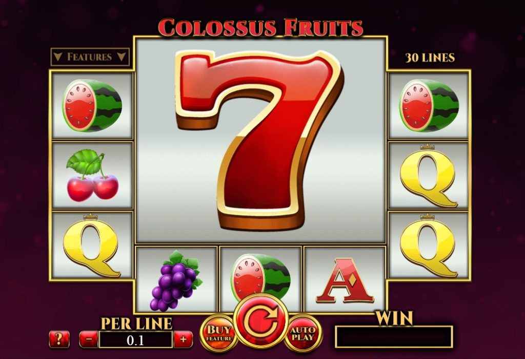 Spinomenal's Colossus Fruits slot reels