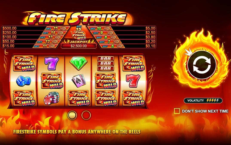 Pragmatic Play's Firestrike slot reels