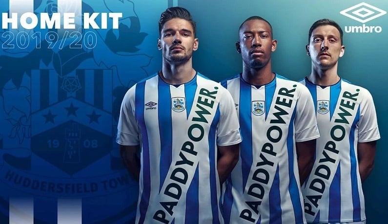 Huddersfield Town shirt advertising Paddy Power.