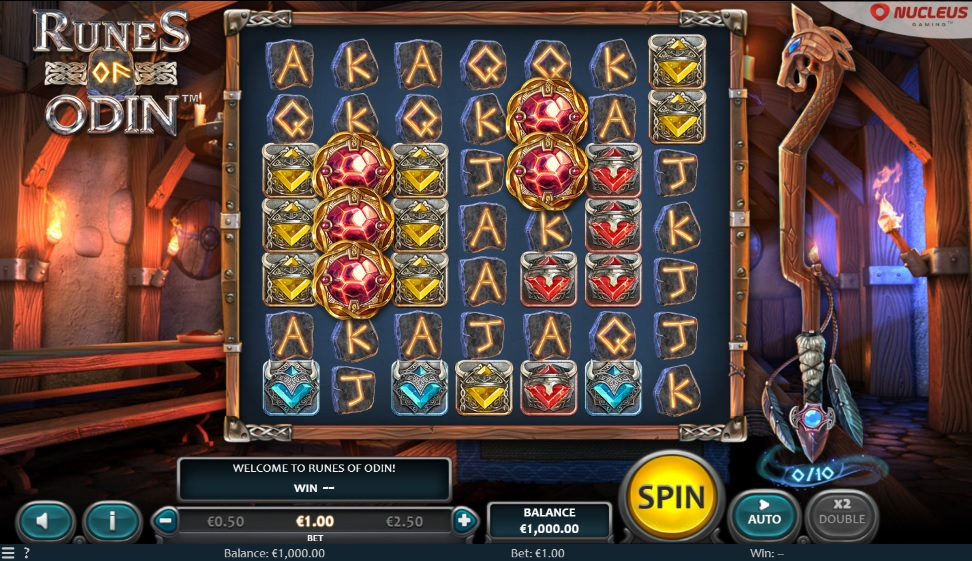Nucleus Gaming's Runes of Odin slot reels