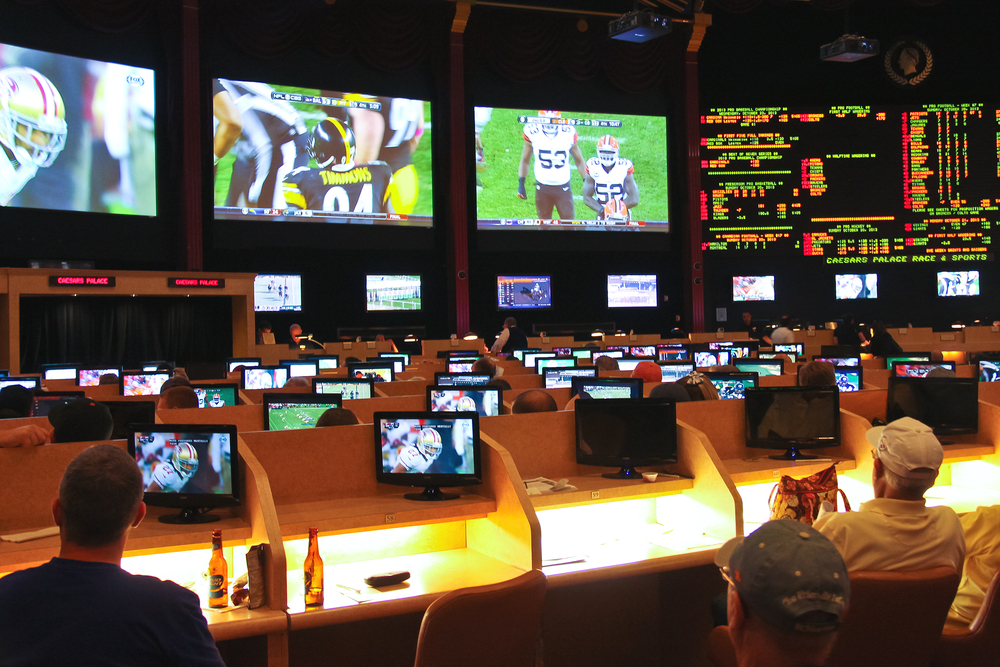 sports betting hall setup