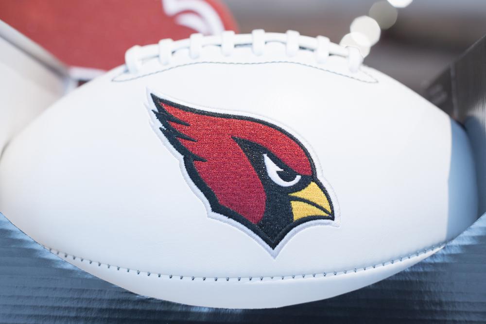 football with Arizona Cardinals logo