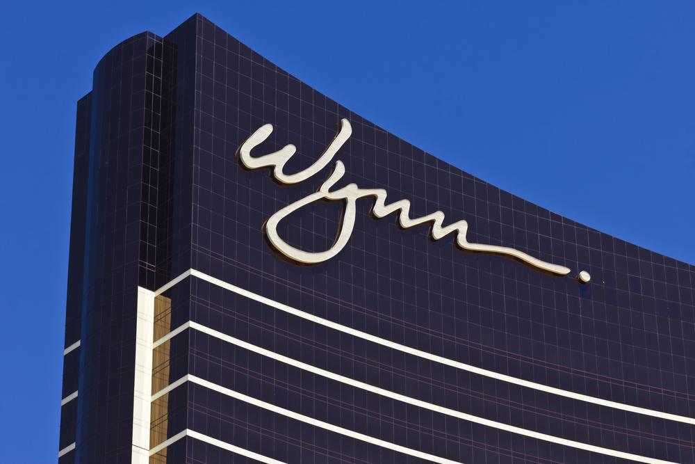close-up shot of a Wynn Resorts building