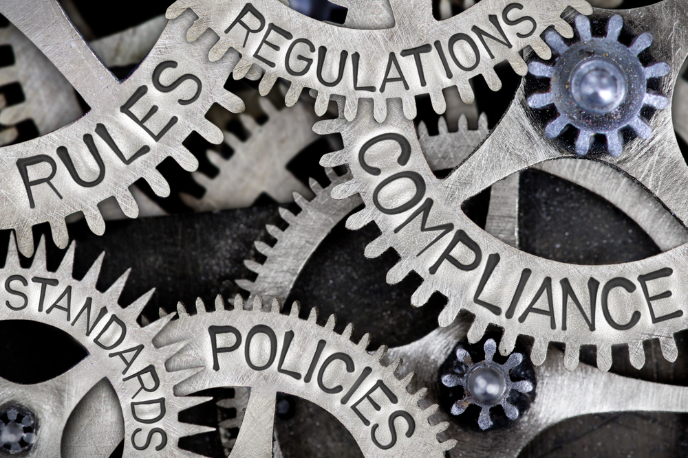 cogs which read rules, regulations, standards, policies, and compliance