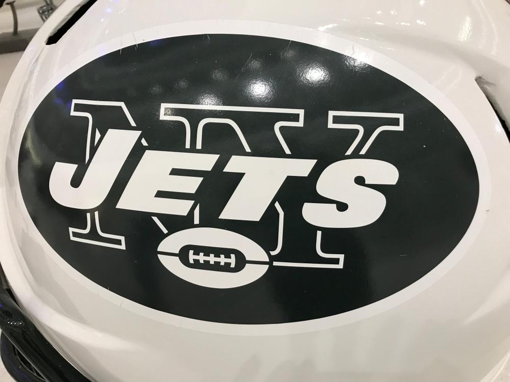 new york jets team logo on football helmet