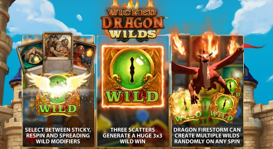 wicked dragon wilds slot reels
