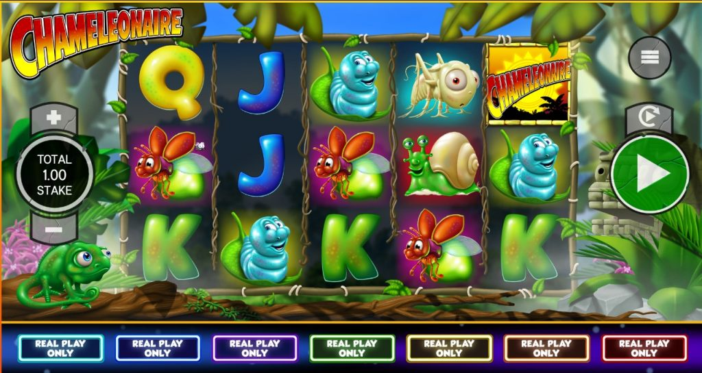 Chameleonaire slot reels by Core Gaming