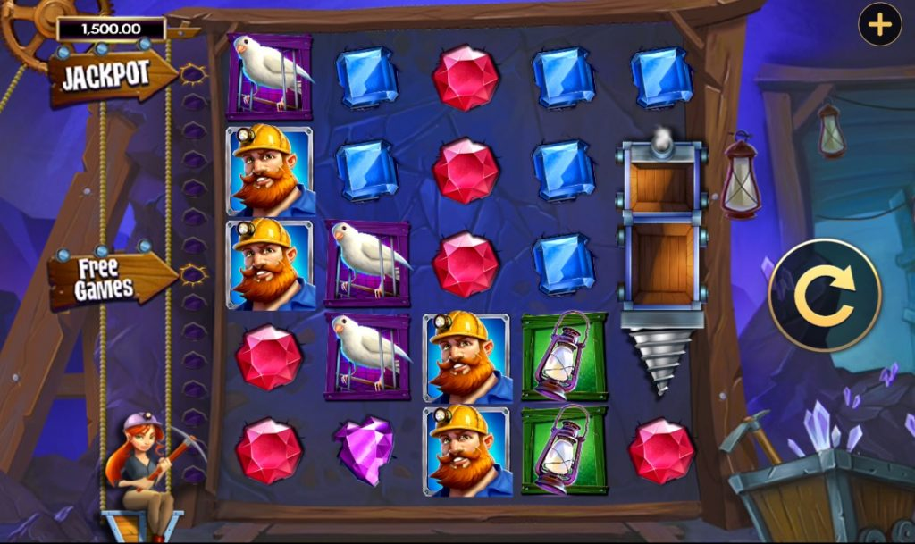 The slot reels in Goldstruck by High 5 Games