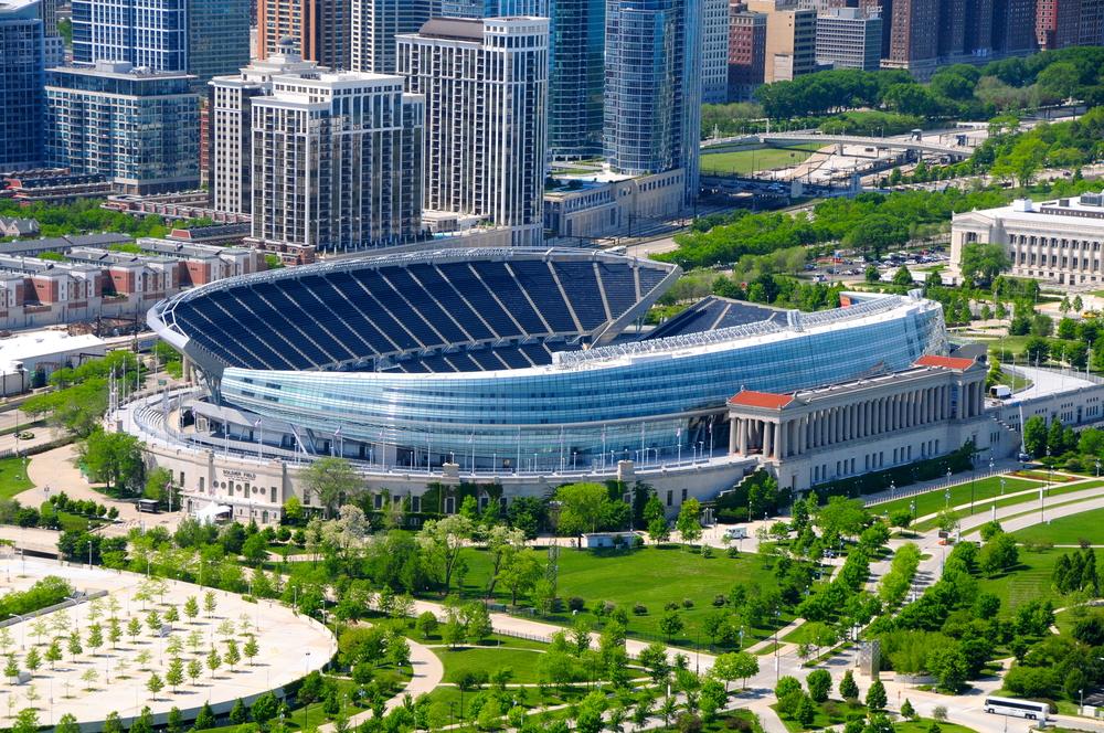 Soldier Field football stadium in Chicago
