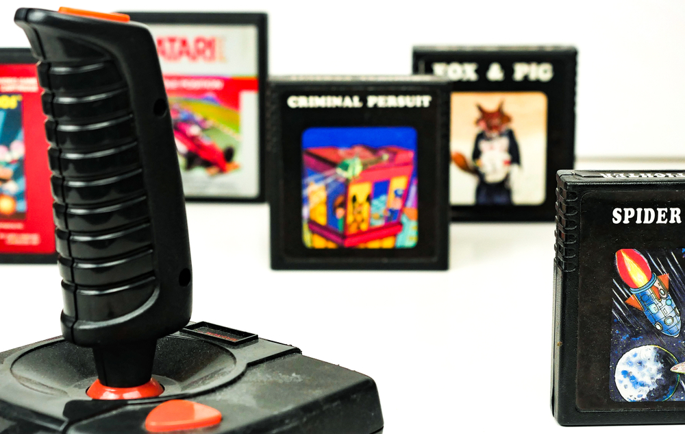 Atari video games set and console