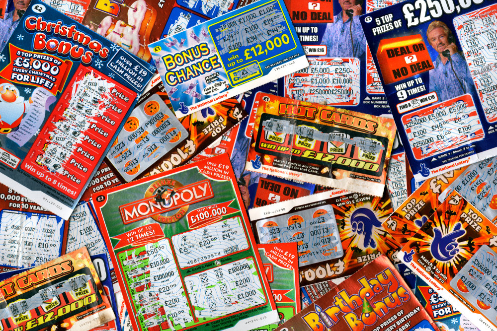 UK scratchcards assortment