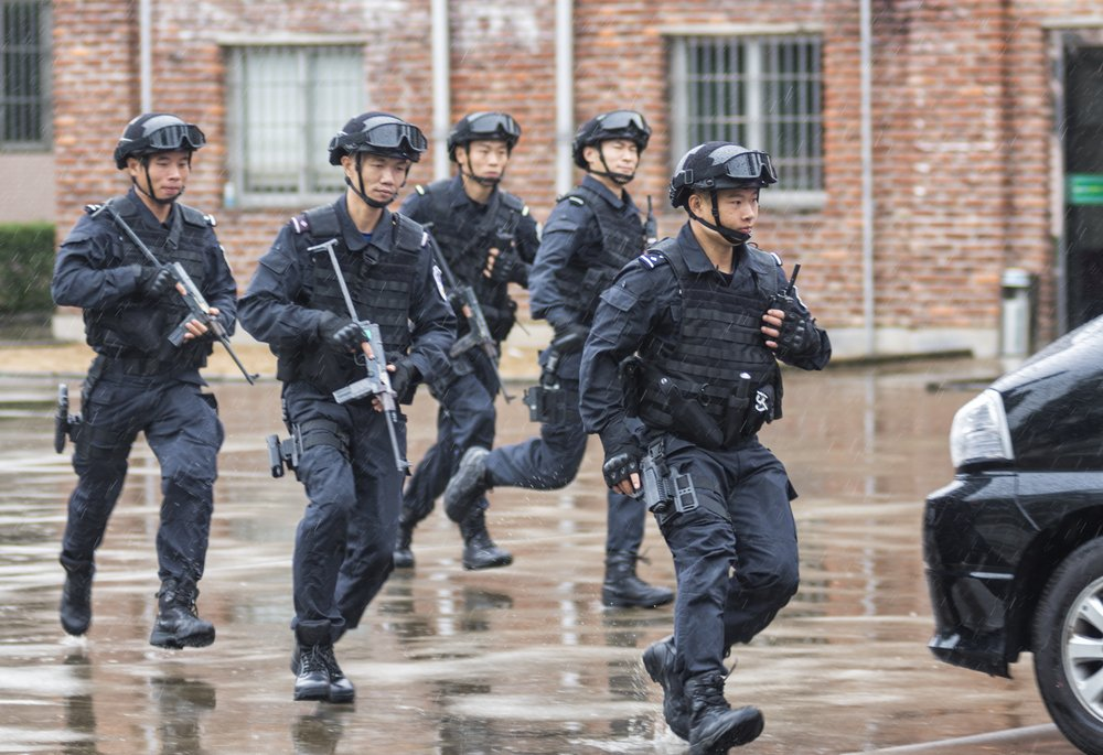 armed police officers in China