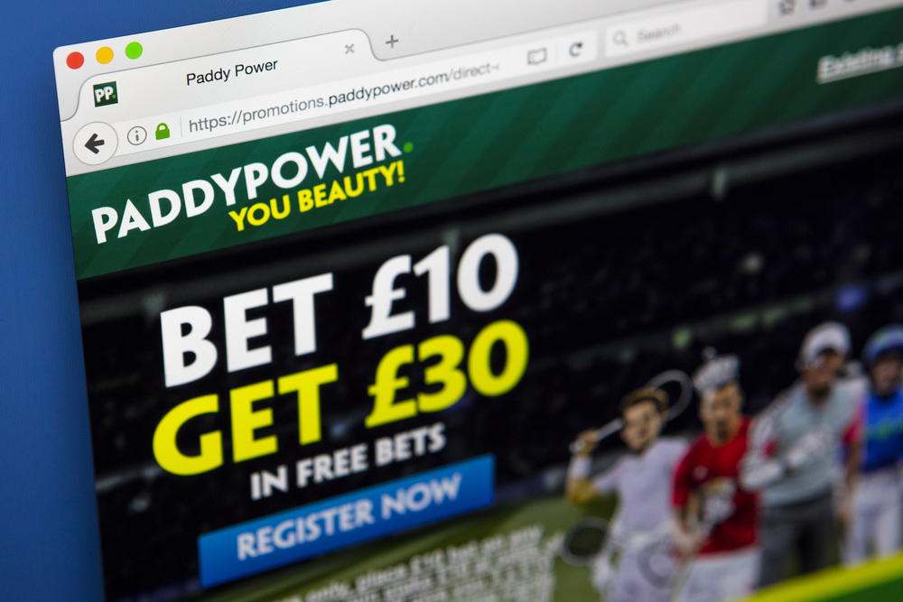 Paddy Power website promotion