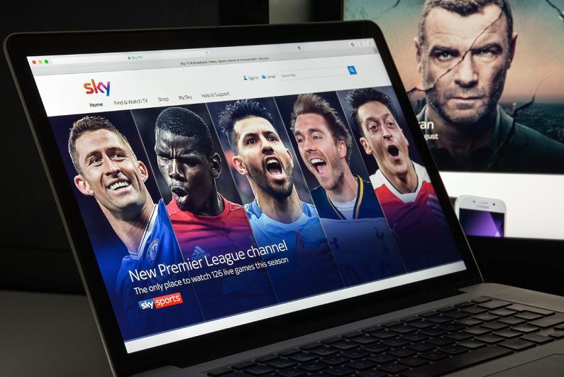 Sky website homepage