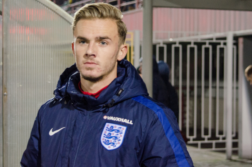 England soccer player James Maddison