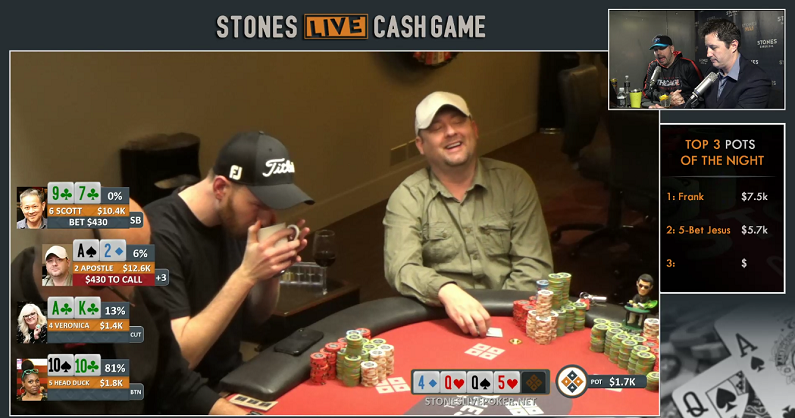 "Screenshot of Mike Postle playing in a ""Stones Live"" event."