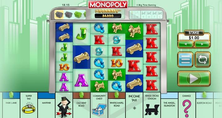 MONOPOLY MegaWays video slot by BTG