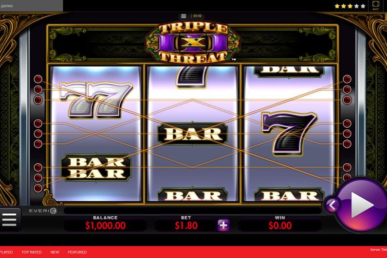 Triple Threat slots screenshot