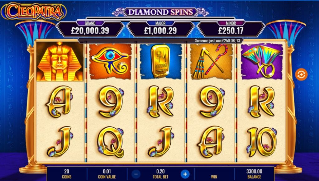 Cleopatra Diamond Spins by IGT