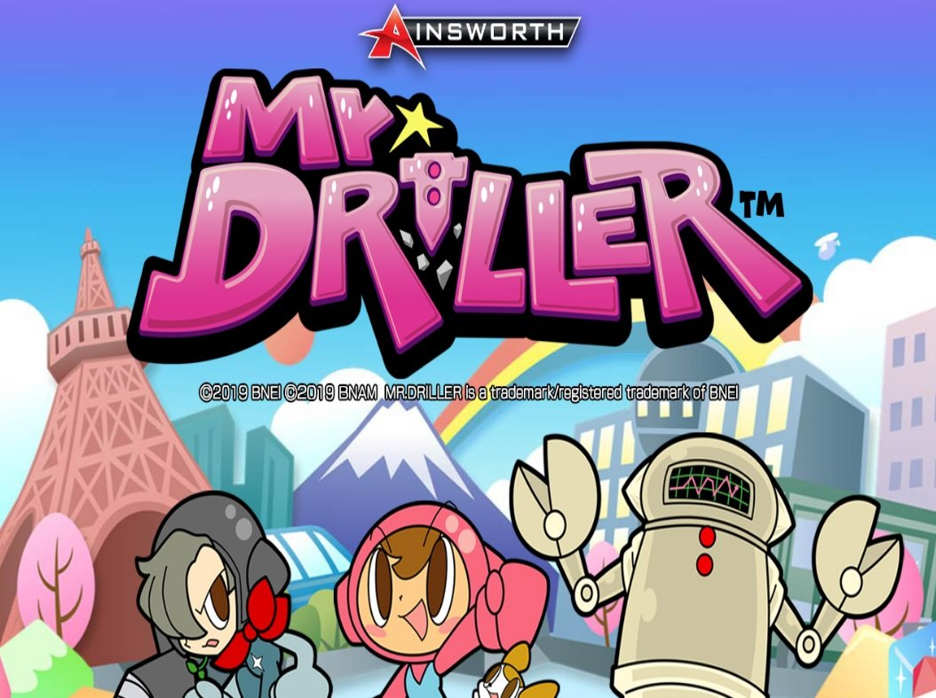 Mr Driller slot welcome screen by Ainsworth