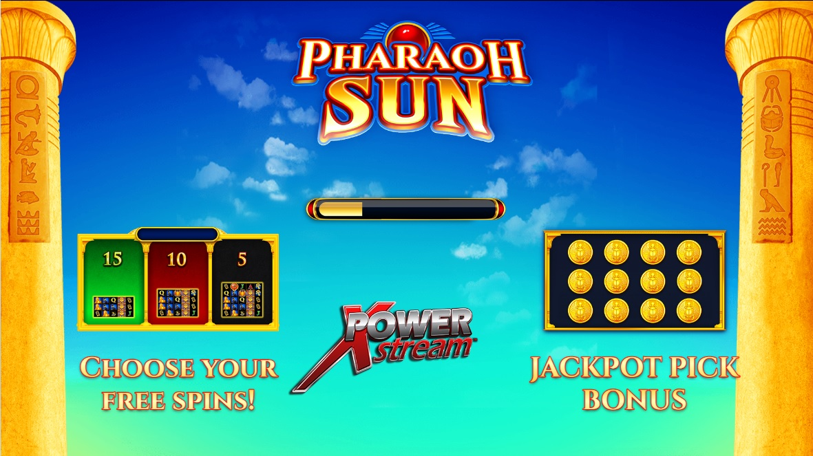 Pharaoh Sun slot game screen by AGS