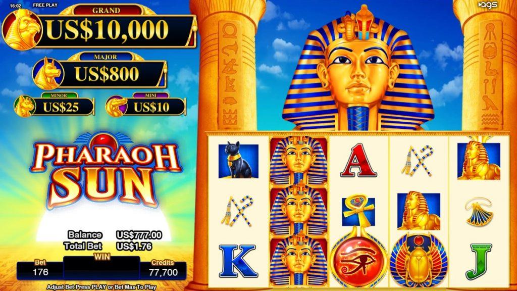 Pharaoh Sun slot reels by AGS