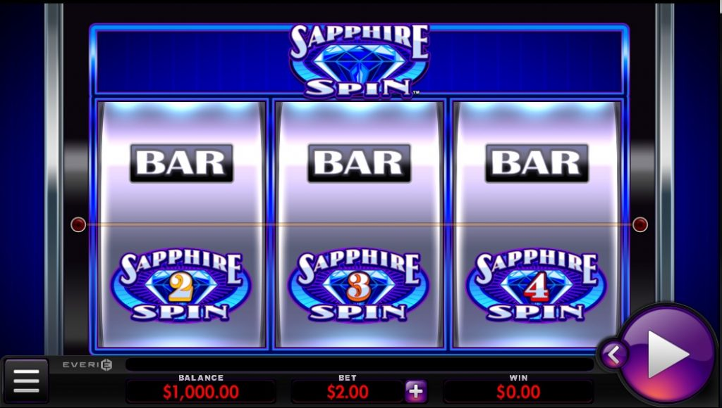 Sapphire Spin slot by Everi