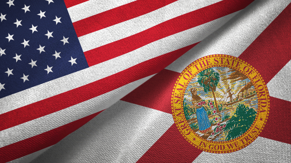 flags of the United States and Florida state