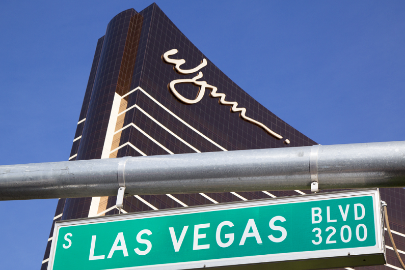 Las Vegas Boulevard sign near The Wynn Hotel and Casino