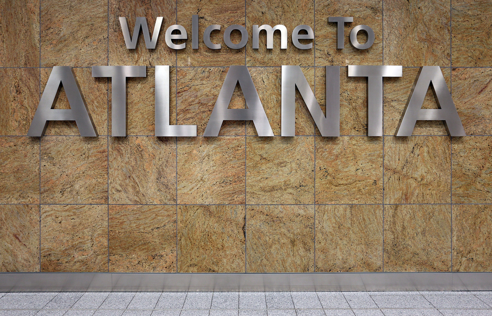 Welcome to Atlanta airport sign