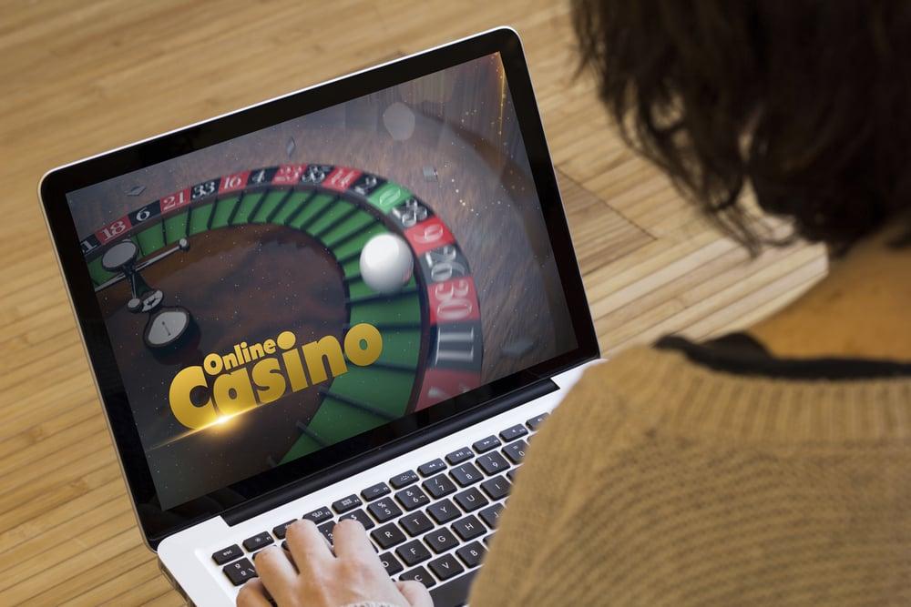 woman gambling at online casino