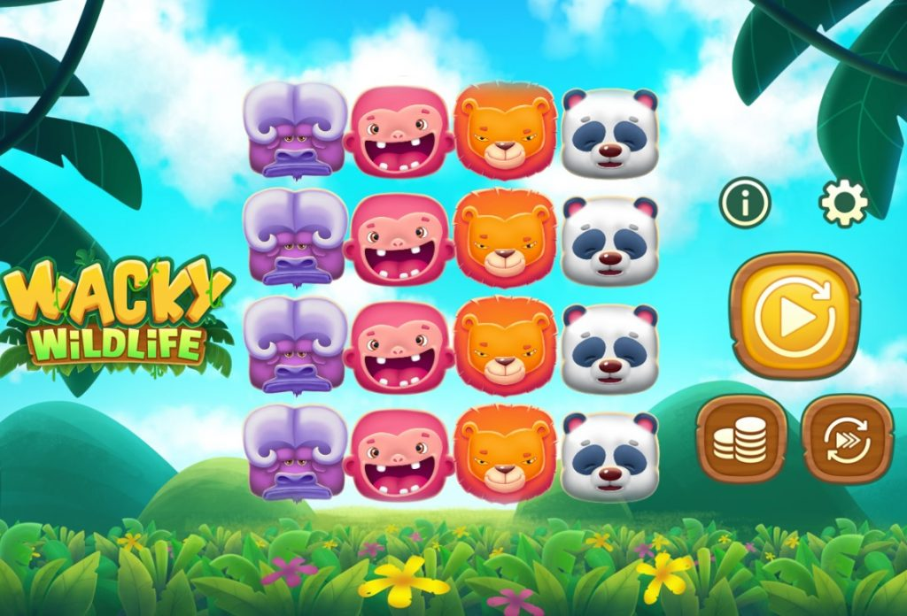 Wacky Wildlife slot reels by OneTouch